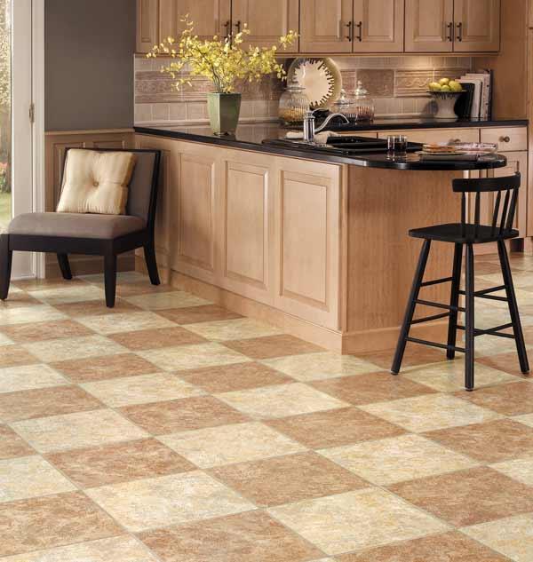 Duraceramic floor tile